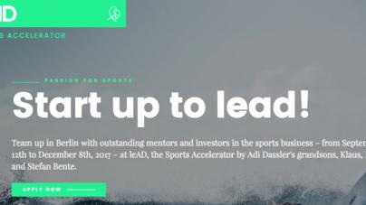 Neuer leAD Sports Accelerator nimmt noch bis Ende Mai Bewerber an