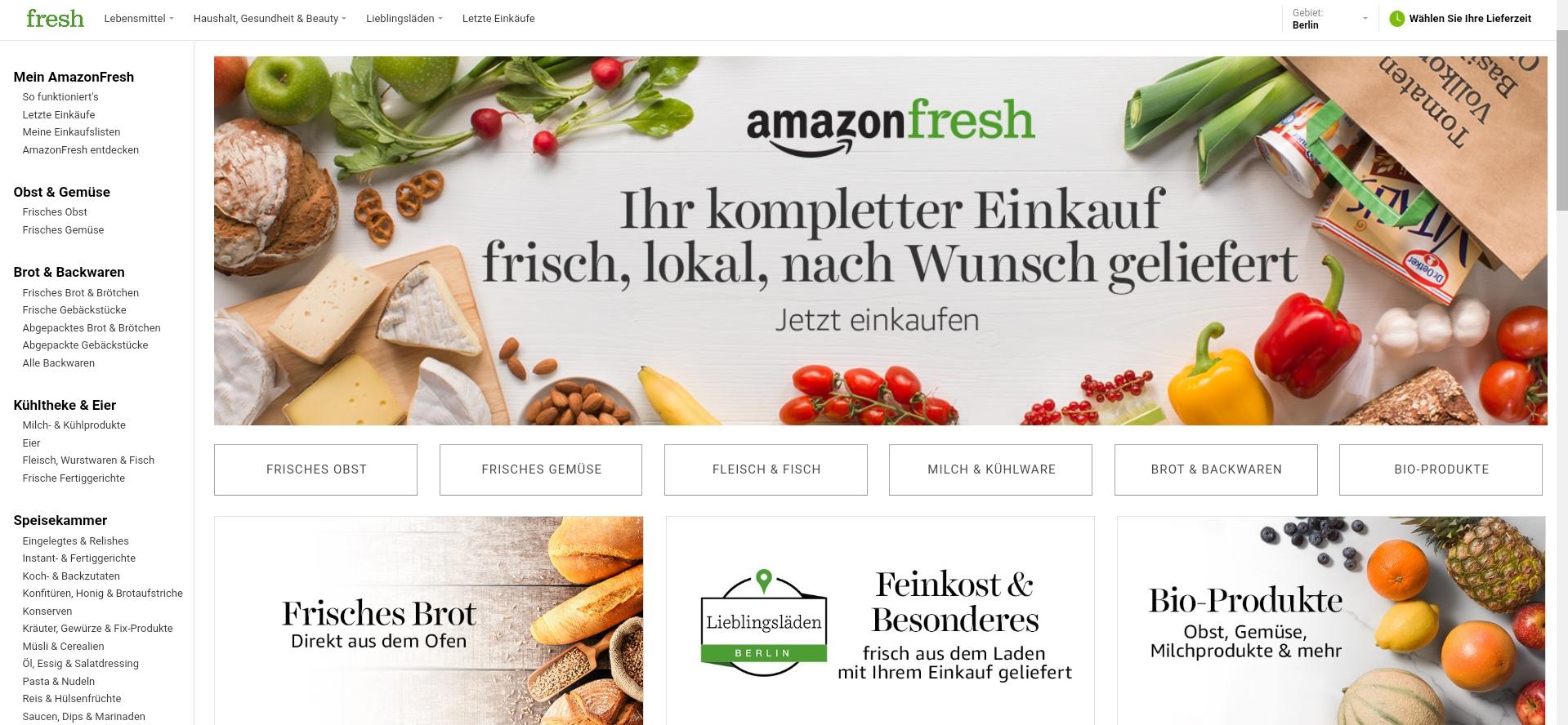 Allyouneed Fresh und DHL liefern für Amazon Fresh aus